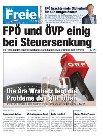 FPÖ und ÖVP einig bei Steuersenkung