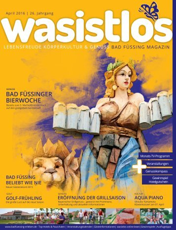 wasistlos Bad Füssing Magazin April 2016