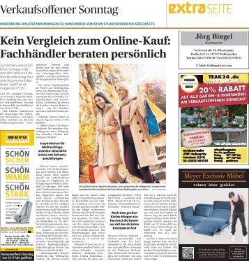 Verkaufsoffener Sonntag in Bedburg-Hau  -11.11.2018-