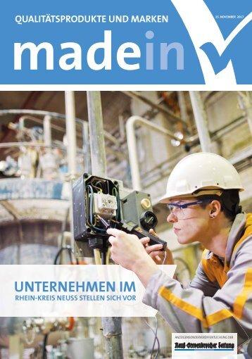 Unternehmen im Rhein-Kreis Neuss stellen sich vor  -15.11.2017-