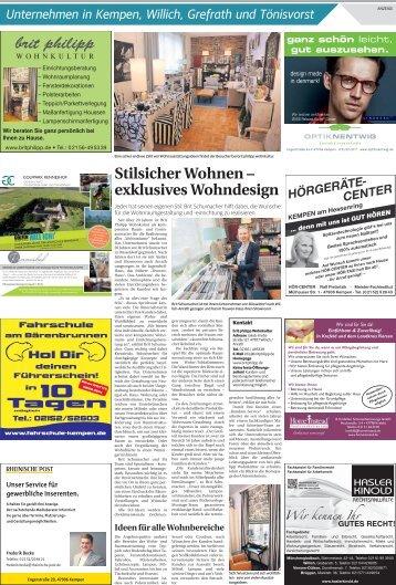 Unternehmen in Kempen, Willich, Grefrath und Tönisvorst  -15.11.2017-
