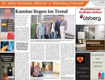 50 Jahre Kaminbau Metzner in Rheinberg-Eversael  -16.11.2017-