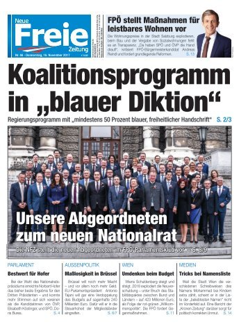 "Koalitionsprogramm in ""blauer Diktion"""