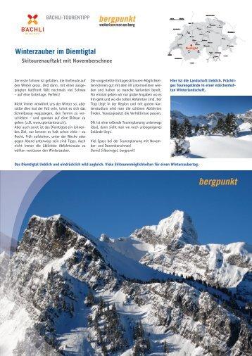 Tourentipp 11.2017 - Winterzauber im Diemtigtal