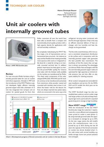 Expert article - Walter Roller GmbH & Co.