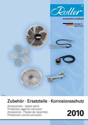 Roller catalogue - Walter Roller GmbH & Co.