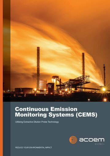 ECOTECH Continuous Emissions Monitoring Systems (CEMS) Brochure