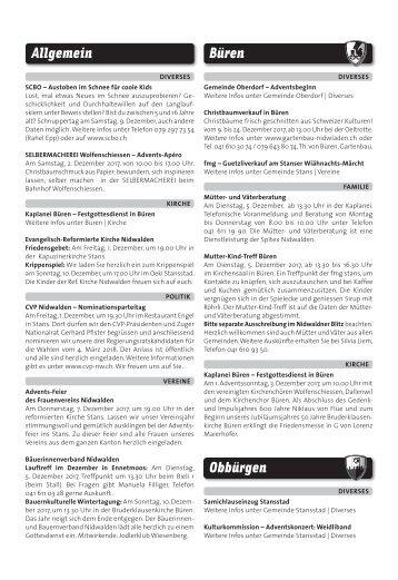 Gemeindespalten KW48 / 30.11.17