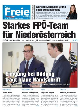 Starkes FPÖ-Team für Niederösterreich