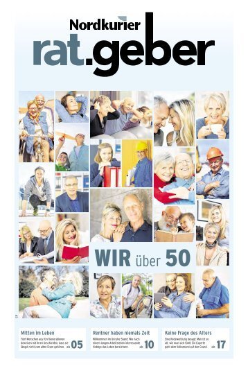 "Nordkurier Ratgeber ""Wir über 50"" Peene Müritz"