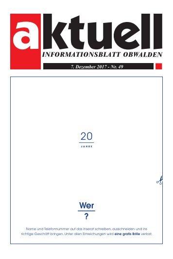 Aktuell Obwalden 49-2017