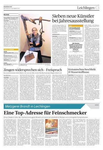 Metzgerei Brandt in Leichlingen  -06.12.2017-
