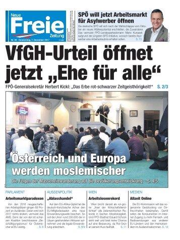 """VfGH-Urteil öffnet jetzt """"Ehe für alle"""""""