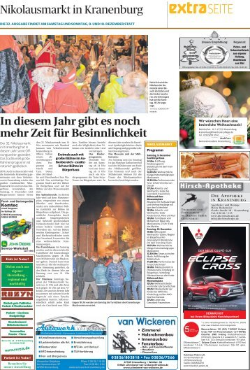 Nikolausmarkt in Kranenburg  -08.12.2017-