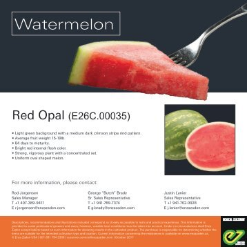 Leaflet Watermelon Red Opal 2018
