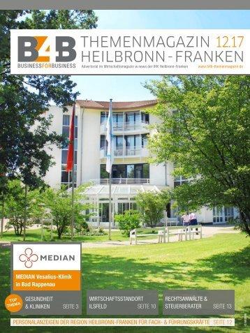 GESUNDHEIT & KLINIKEN | B4B Themenmagazin 12.2017