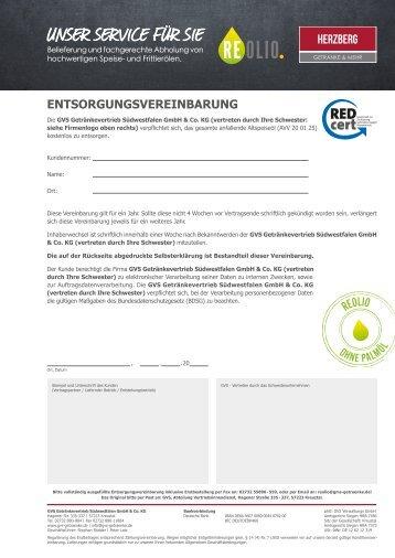 REOLIO Entsorgungsvereinbarung Herzberg - Version 1