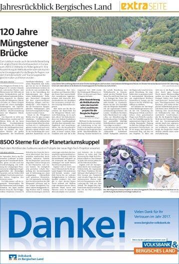 Jahresrückblick Bergisches Land  30.12.2017-