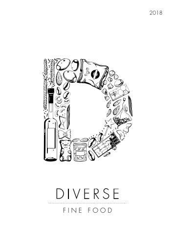 2018 Diverse Fine Food Catalogue