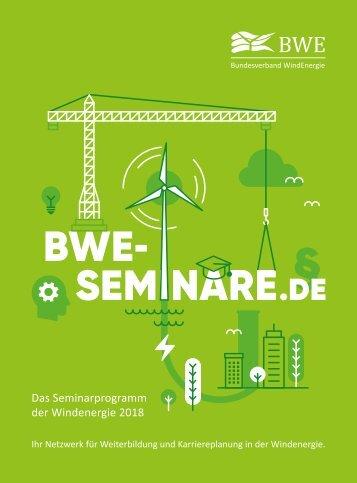 Seminarprogramm 2018 des Bundesverband WindEnergie
