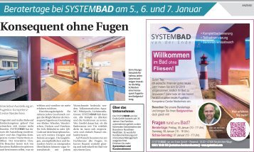 Beratertage bei Systembad  -03.01.2018-