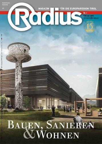 Radius Bauen und Sanieren 2017