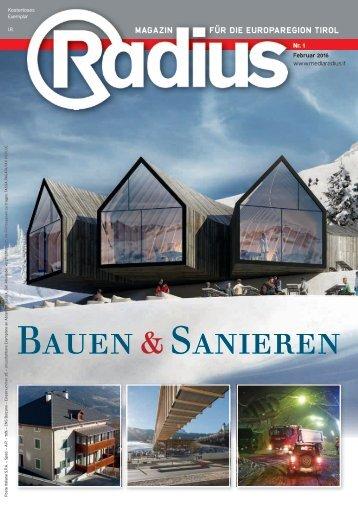 Radius Bauen und Sanieren 2016