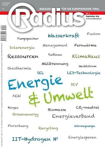 Radius Energie und Umwelt 2014
