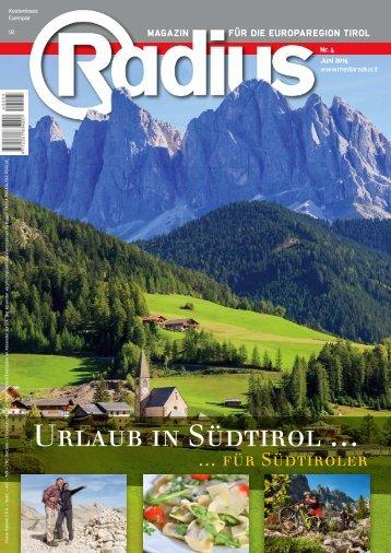 Radius Urlaub in Südtirol 2014