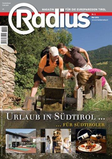 Radius Urlaub in Südtirol 2013