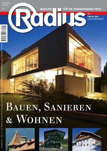 Radius Bauen und Sanieren 2013