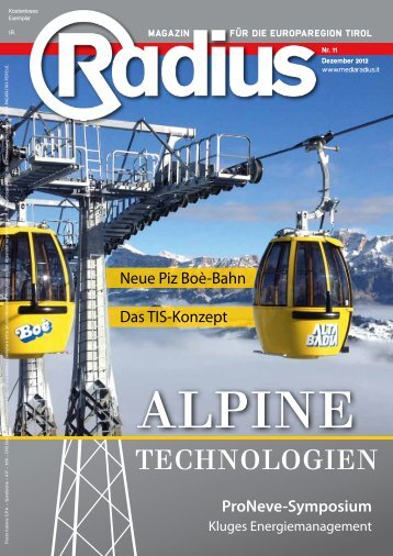 Radius Alpine Technologien 2012