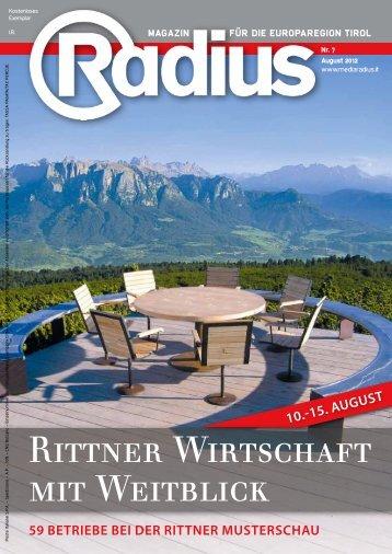 Radius Rittner Wirtschaft 2012