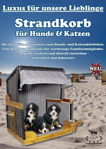 Flyer Strandkorb für Hunde und Katzen