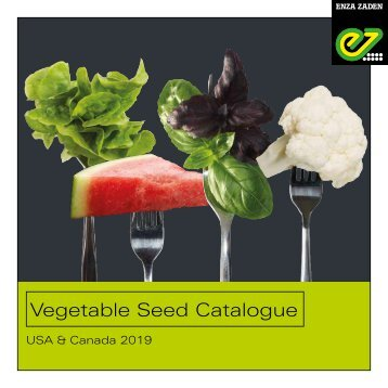 Vegetable Seed Catalogue USA & Canada 2018