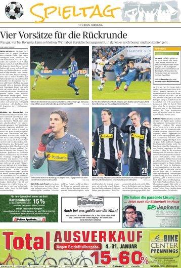 Spieltag - Rückrundenauftakt  -13.01.2018-