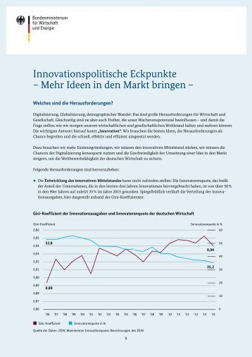 Innovationspolitische Eckpunkte