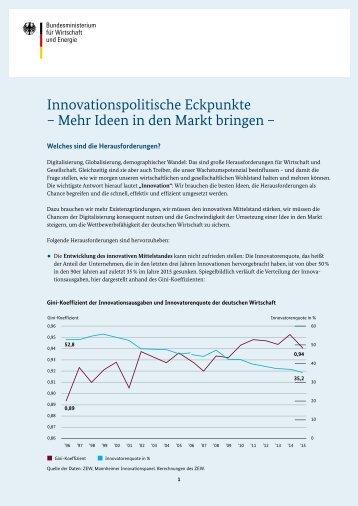 Innovationspolitische Eckpunkte