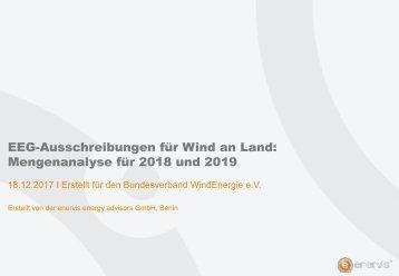 EEG-Ausschreibungen für Wind an Land