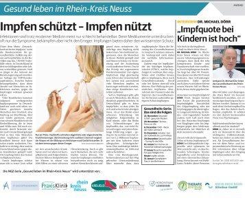 Gesund leben im Rhein-Kreis Neuss  -24.01.2018-