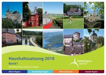 Band I - Haushaltssatzung, Vorbericht, und Anlagen2018