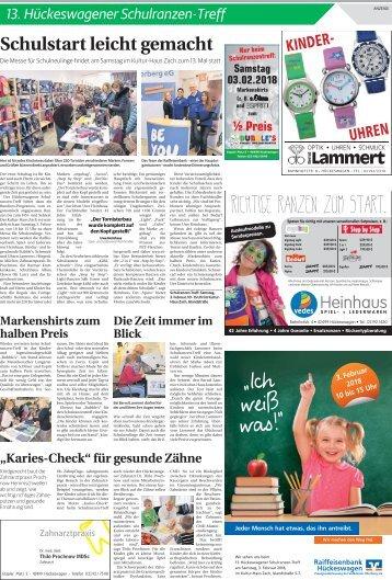 13. Hückeswagener Schulranzen-Treff  -31.01.2018-