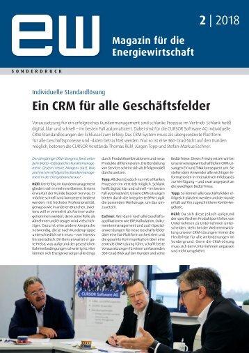 Ein CRM für alle Geschäftsfelder ew 02-2018