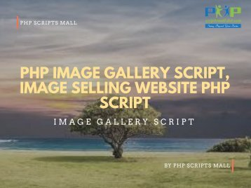 PHP image gallery script, Image selling website PHP script