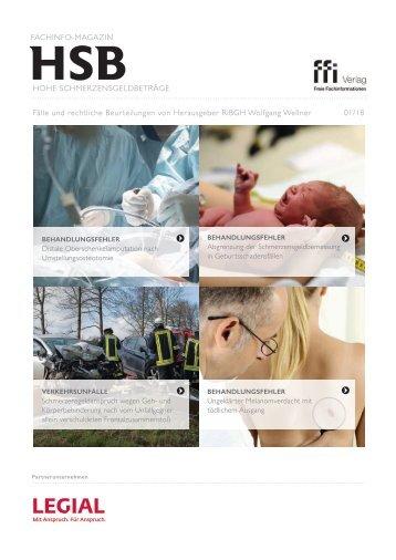 Fachinfo-Magazin Hohe Schmerzensgeldbeträge (HSB)