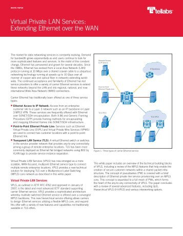 Virtual Private LAN Services: Extending Ethernet over the ... - Tellabs