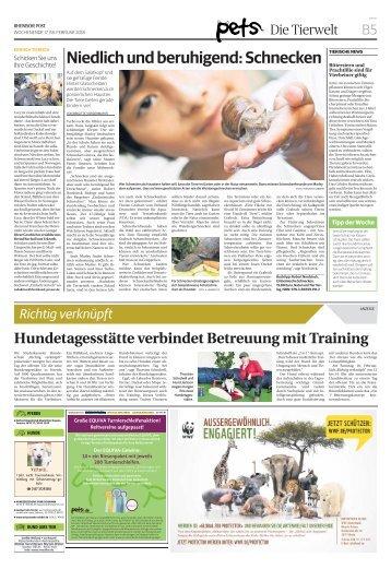 Hundetagesstätte verbindet Betreuung mit Training  -17.02.2018-