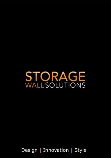 Storage Wall Solutions - Brochure (2018)