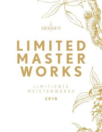 MEISSEN Limitierte Meisterwerke 2018