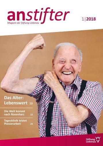 Anstifter 1, 2018 der Stiftung Liebenau